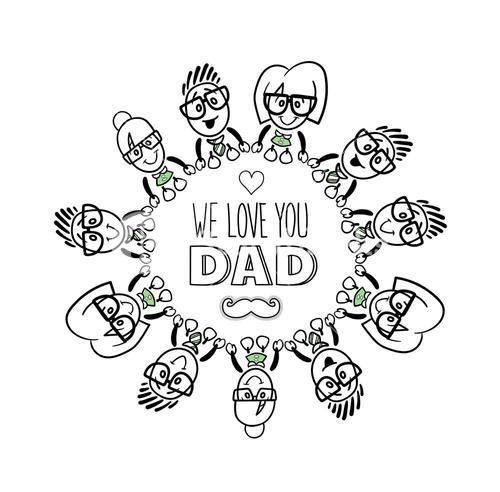Fathers day greeting vector