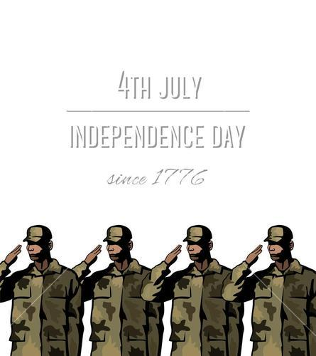 Independence day concept vector