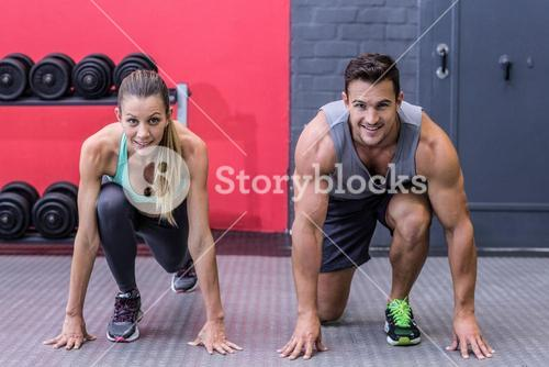 Muscular couple on the starting position