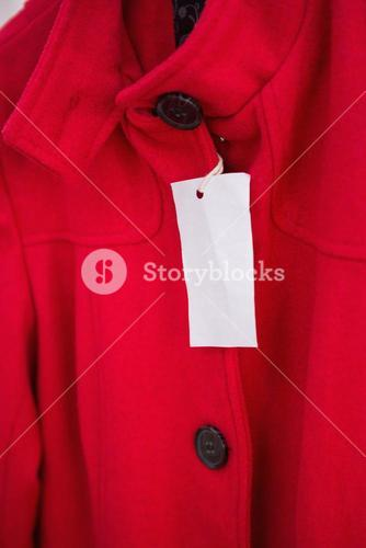 Close up of Hanging red coat