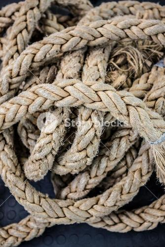 Close up view of a rope