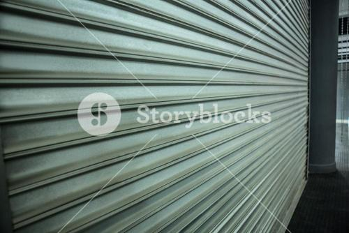 Side view of shutter