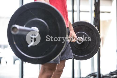 Young Bodybuilder doing weightlifting