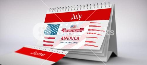 Composite image of independence day graphic