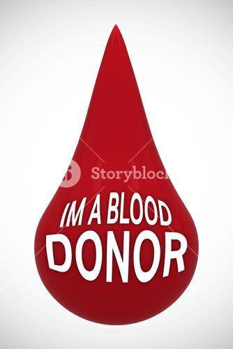 Blood donor message in drop
