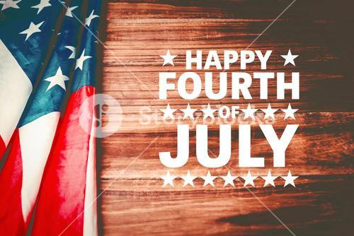 Composite image of happy fourth of july