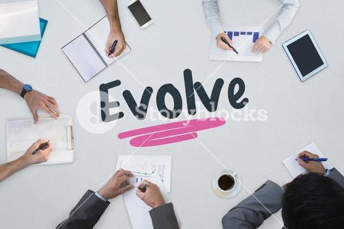 Evolve against business meeting