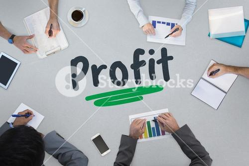Profit against business meeting