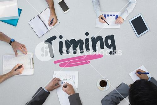 Timing against business meeting