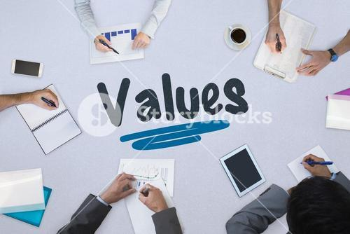Values against business meeting