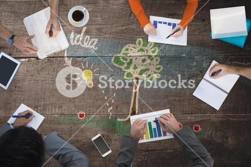Composite image of business meeting