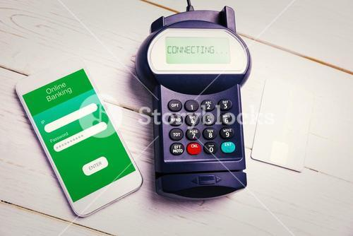 Composite image of mobile payment