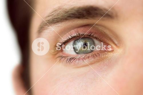 Close up of a mans eye