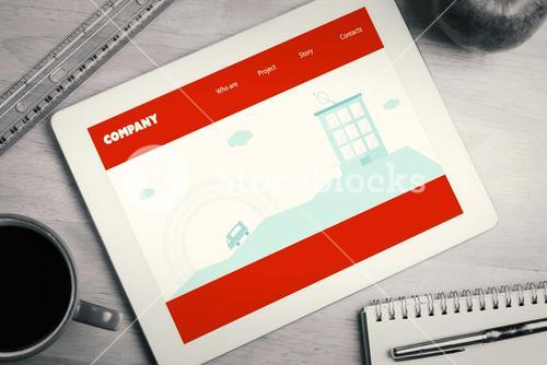 Composite image of homepage