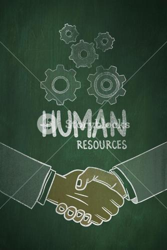 Composite image of human resources doodle