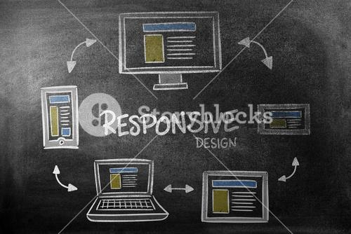 Composite image of responsive design doodle