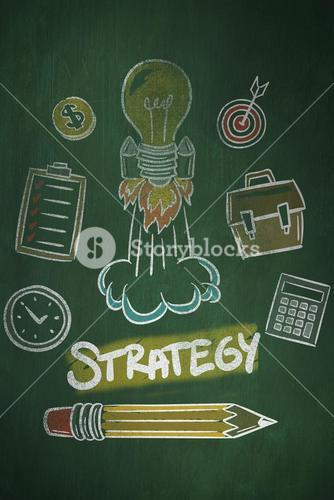 Composite image of strategy doodle