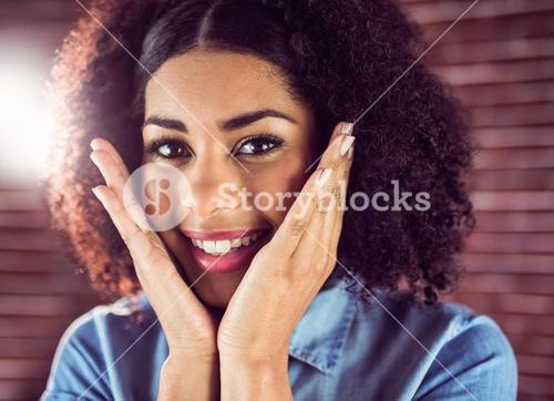 Attractive young woman being glad