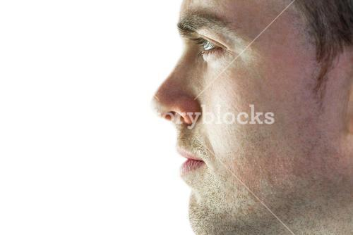 Rugby player on a profile view