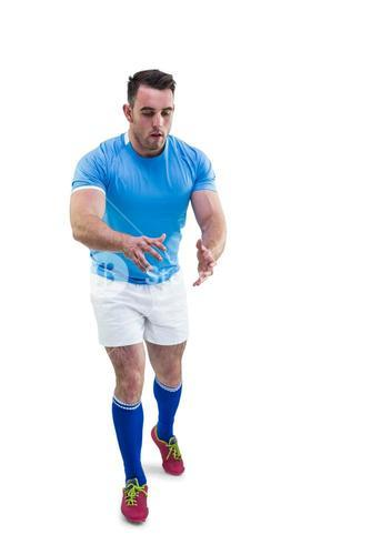Rugby player ready to catch