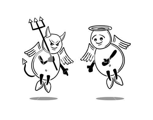 Good versus evil concept vector