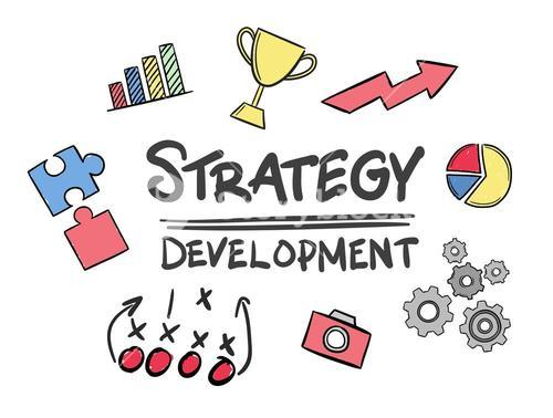 Strategy development concept vector