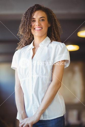 Smiling woman looking at the camera
