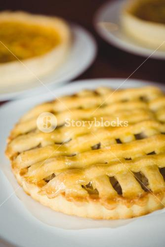 Close up view of pie