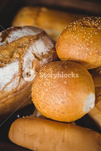Close up view of bread