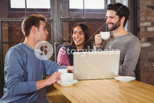 Group of friends enjoying a coffee
