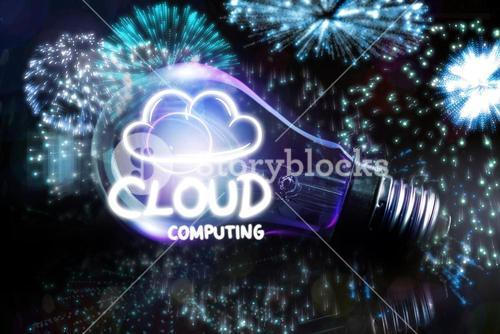 Composite image of cloud computing