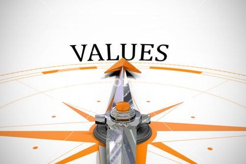 Values against compass