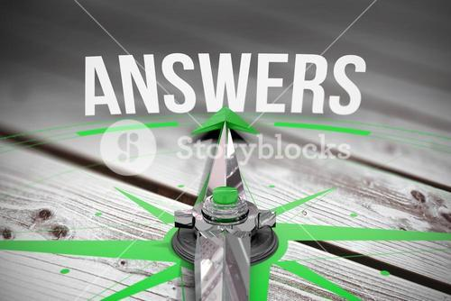 Answers against digitally generated grey wooden planks