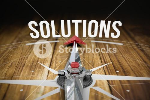 Solutions against wooden table