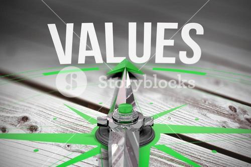 Values against digitally generated grey wooden planks