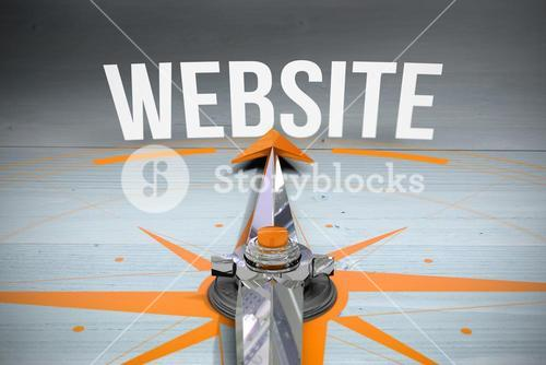 Website against bleached wooden planks background
