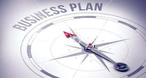 Business plan against compass