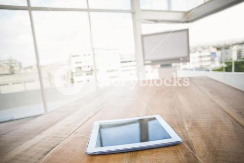 Tablet in front of meeting room