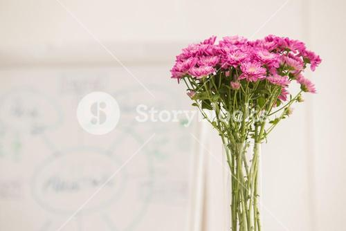 Fresh flowers in a meeting room