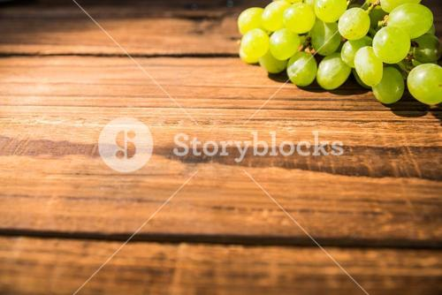 Bunch of grapes on table
