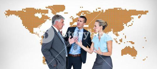 Composite image of business people having a disagreement