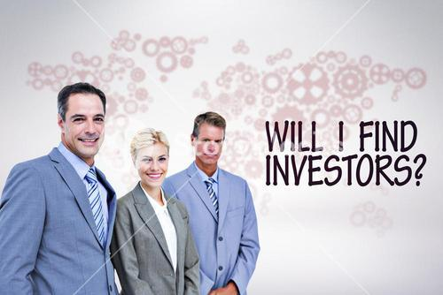 Composite image of businessman in a row with his business team