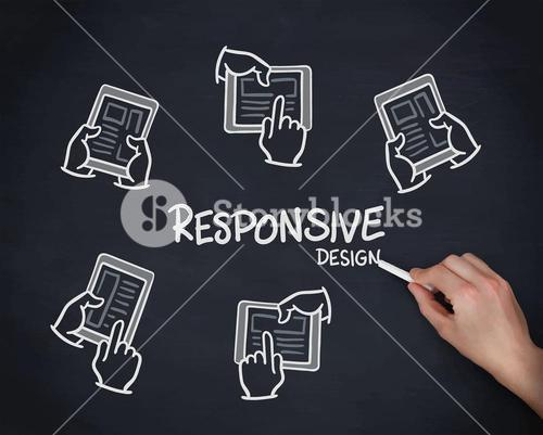 Responsive design hand drawn vector