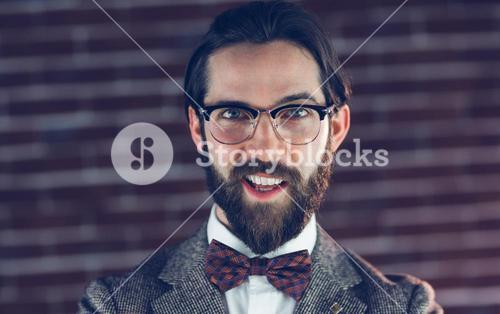 Portrait of smiling fashionable man