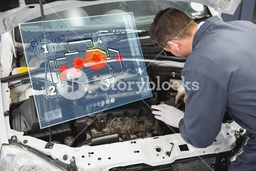 Composite image of engine interface