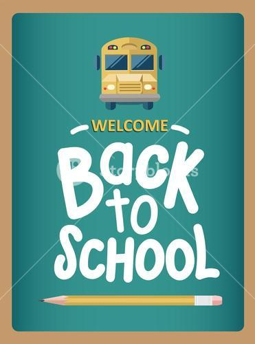 Welcome back to school message with icons vector