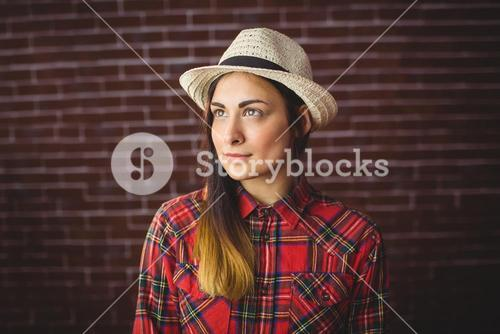 Beautiful hipster in check shirt