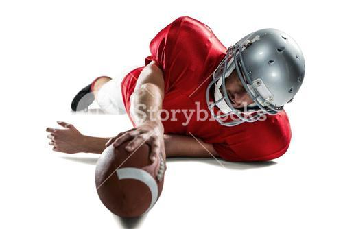 Sports player struggling to catch the ball