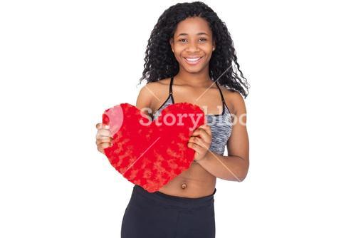 Fit model showing heart cushion