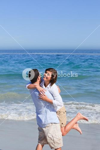 Lovely couple in the sea